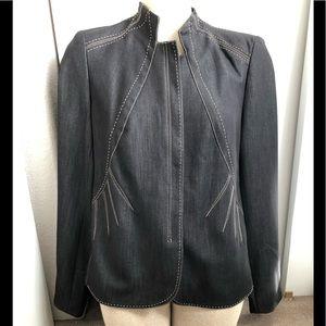 Adrienne Vitadini Studio zip front blazer/ jacket
